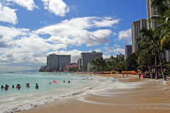 Waikiki Beach, Honolulu, Oahu, Hawaii Royalty Free Stock Image