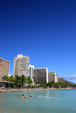 Waikiki Beach, Honolulu, Oahu, Hawaii Stock Photos