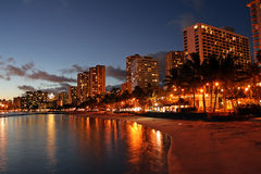 Waikiki Beach, Honolulu, Oahu, Hawaii Stock Photography