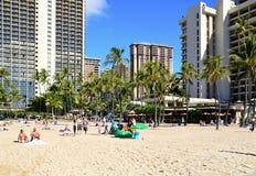 Waikiki Beach on the Island Oahu, Honolulu, Hawaii