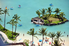 Waikiki Beach lagoon, Oahu, Hawaii Royalty Free Stock Photography