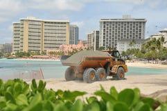 Waikiki Beach Maintenance Project dump truck Stock Photo