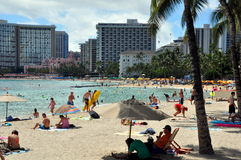 Waikiki beach, Oahu, Hawaii Royalty Free Stock Images