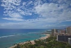 Waikiki Beach in Oahu, Hawaii Royalty Free Stock Photo