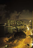 Waikiki beach, oahu, hawaii at night Stock Images