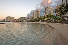 Waikiki Beach, Oahu Island Hawaii, cityscape Stock Images