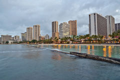 Waikiki Beach, Oahu Island Hawaii, cityscape Stock Photography
