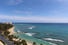 Waikiki beach. And ocean view from the top Stock Photography