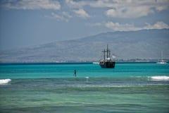 Waikiki beach panorama Stock Photography