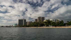Waikiki Beach Seamless Time Lapse Loop Royalty Free Stock Photos