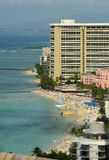 Waikiki Beach seen from above Royalty Free Stock Images