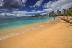Waikiki Beach Skyline Royalty Free Stock Photo