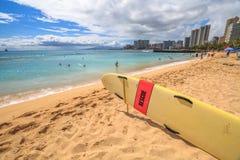 Waikiki Beach Skyline Royalty Free Stock Photos
