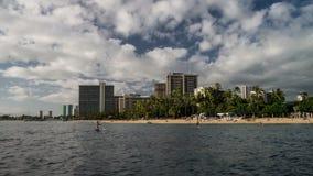 Waikiki Beach Time Lapse Loop Stock Photography