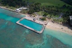 Waikiki Beach War Memorial Natatorium Stock Photo