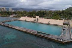 Waikiki Beach War Memorial Natatorium Stock Images