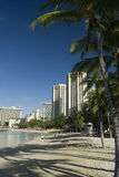 Waikiki beachfront Stock Images