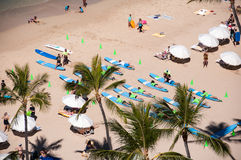 Waikiki-Brandungslektionen Stockbilder