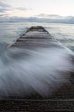 Waikiki breakwater Stock Image