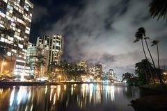 Waikiki Buildings Hotels Palms Architecture Kapahulu Avenue Ala Royalty Free Stock Images