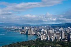 Waikiki. The city of Waikiki in Oahu Hawaii Royalty Free Stock Photography