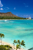 waikiki d'Hawaï Oahu de plage photos stock
