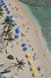 Waikiki de acima fotografia de stock