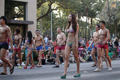 Waikiki de flânerie Images stock