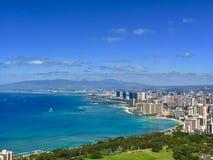 waikiki dell'Hawai della spiaggia Fotografia Stock