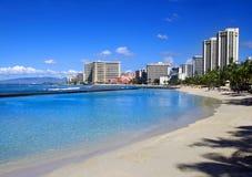 waikiki della spiaggia Fotografia Stock Libera da Diritti