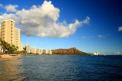 Waikiki and Diamond Head Royalty Free Stock Photography
