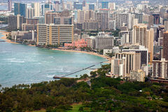Waikiki from Diamond Head Royalty Free Stock Photo