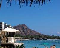 Waikiki and Diamond Head. Diamond Head from Waikiki Beach Stock Images