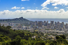 Waikiki and Diamond Head Royalty Free Stock Photo