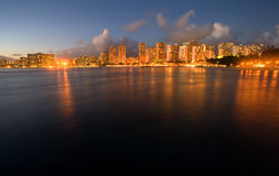 Waikiki Dusk Royalty Free Stock Photography