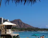 Waikiki e cabeça do diamante Imagens de Stock