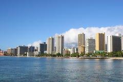 Waikiki en Honolulu, Hawaii Imágenes de archivo libres de regalías