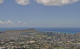 Waikiki et Diamond Head de Tantalus images stock