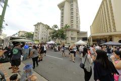 Waikiki gatafestival Royaltyfri Fotografi