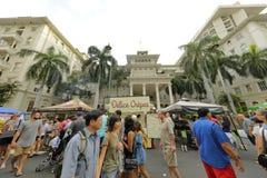 Waikiki gatafestival Royaltyfri Bild