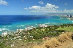 Waikiki gesehen von Diamond Head lizenzfreie stockfotografie
