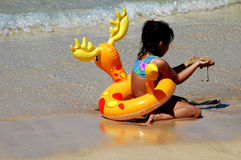waikiki havin zabawy. zdjęcie stock