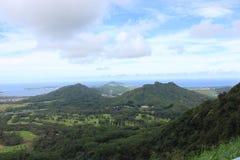 Waikiki, Hawaï, bergen en stranden stock foto's