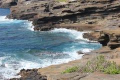 Waikiki, Hawaï, bergen en stranden royalty-vrije stock foto's
