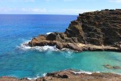 Waikiki, Hawaï, bergen en stranden royalty-vrije stock afbeeldingen