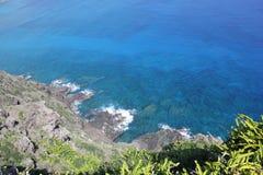 Waikiki, Hawaï, bergen en stranden royalty-vrije stock foto