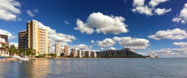 Waikiki Honolulu Havaí Fotos de Stock Royalty Free