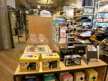 Polaroid Display inside Urban Outfitters. Waikiki - June 16, 2015: Polaroid Display inside Urban Outfitters. Polaroid is an American company that is a brand royalty free stock photography