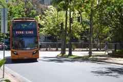 Waikiki-Laufkatzen-offener Reisebus Lizenzfreie Stockfotografie