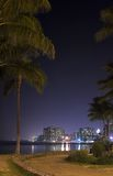 Waikiki night Royalty Free Stock Photography